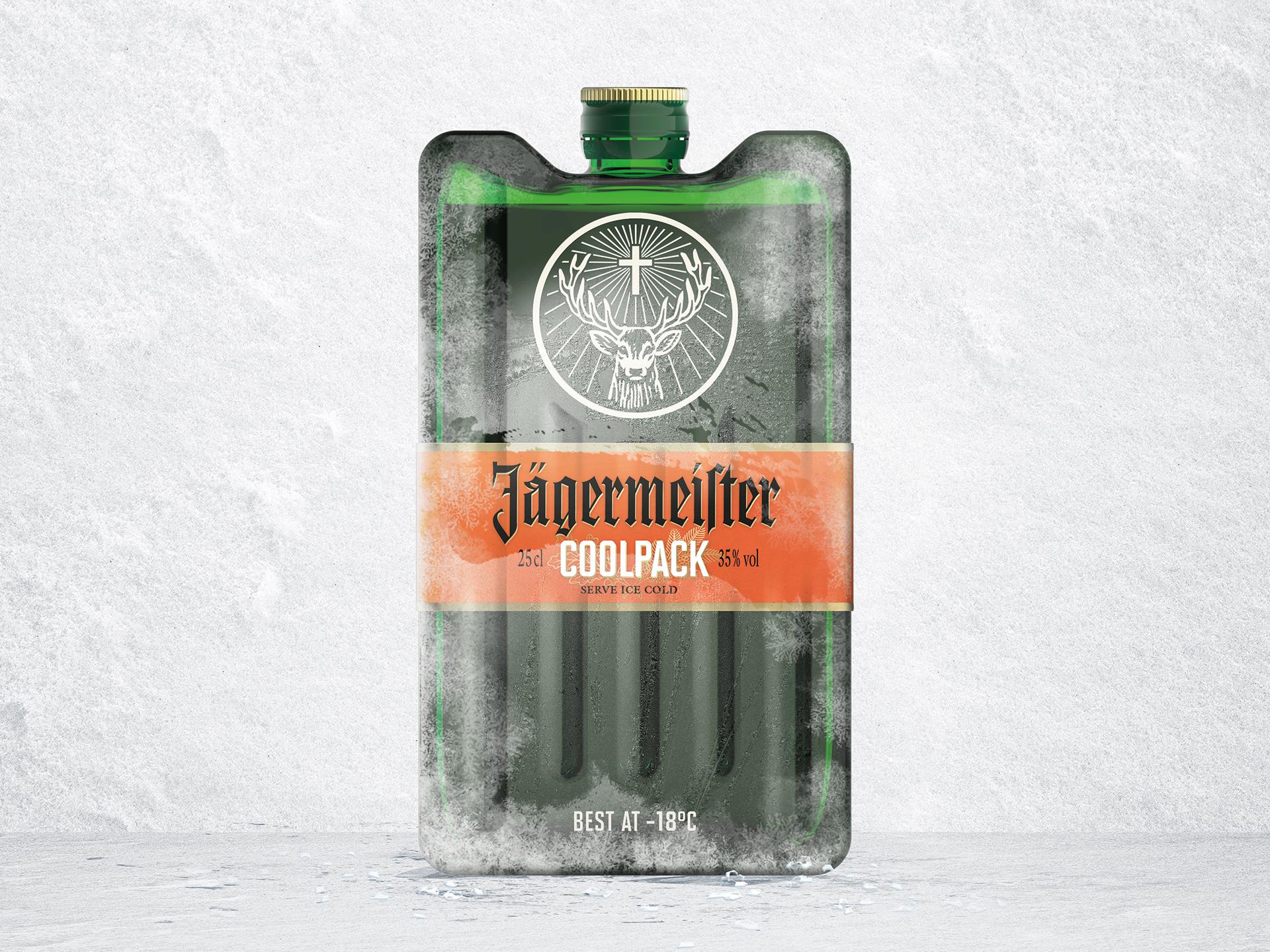 Jägermeister Coolpack Meister, Design und Spirituosen