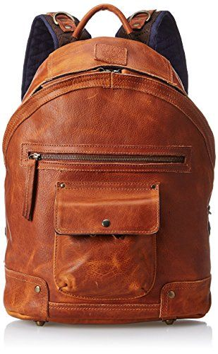 Will Leather Goods Men's Silas Backpack, Tan, One Size