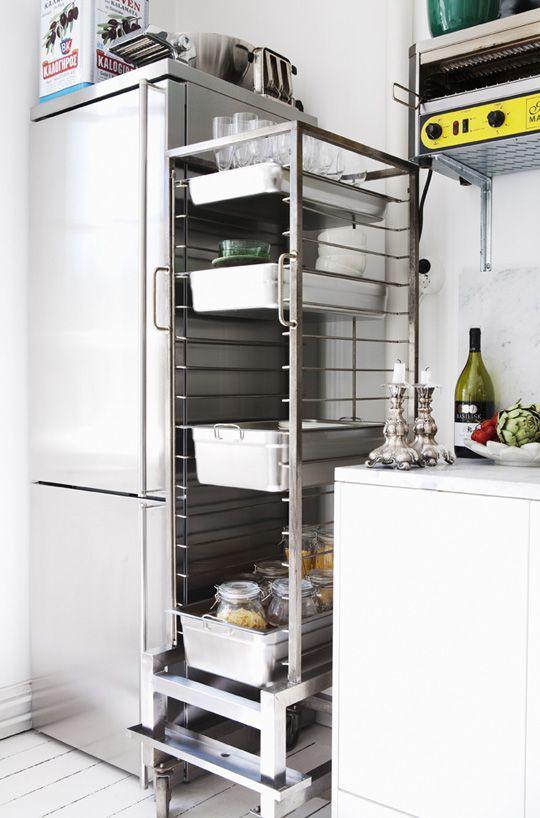 Restaurant Kitchen Racks look! a restaurant-style dish rack used for kitchen storage
