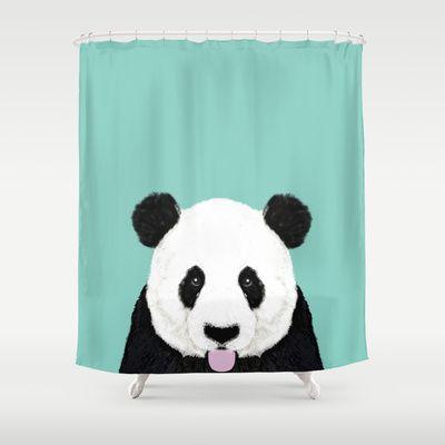 Panda Mint Cute Black And White Animal Portrait Design
