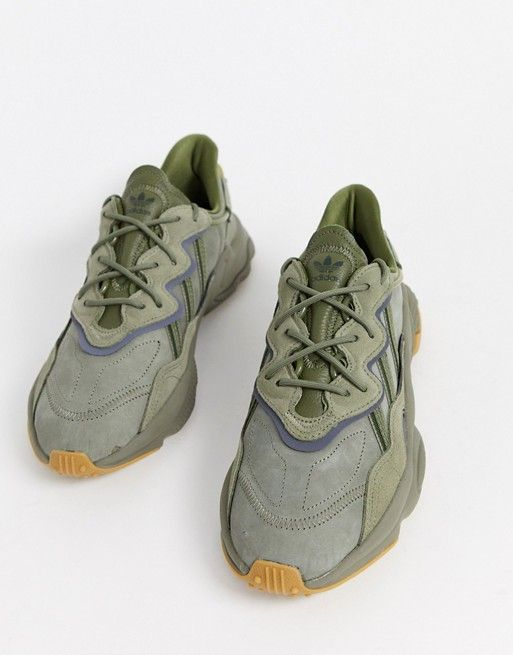 adidas Originals Ozweego trainers in khaki   ASOS   Sneakers men ...