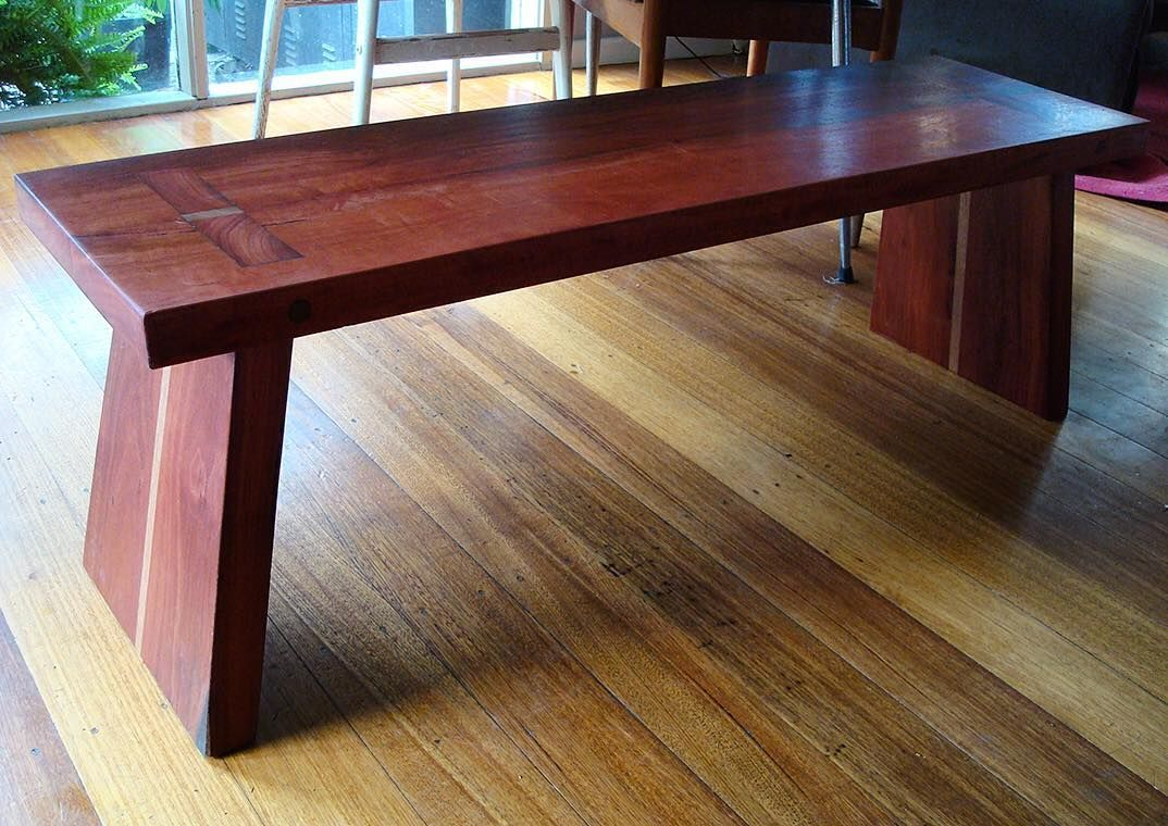 Incredible Japanese Influenced Bench Seat Red Gum And Vic Ash The Gmtry Best Dining Table And Chair Ideas Images Gmtryco