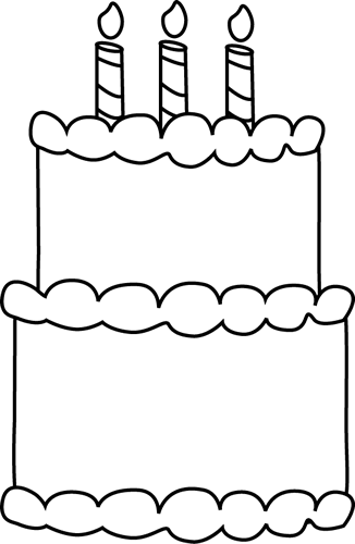 image regarding Birthday Cake Printable named Black and White Birthday Cake- Yourself can track down approximately anything at all