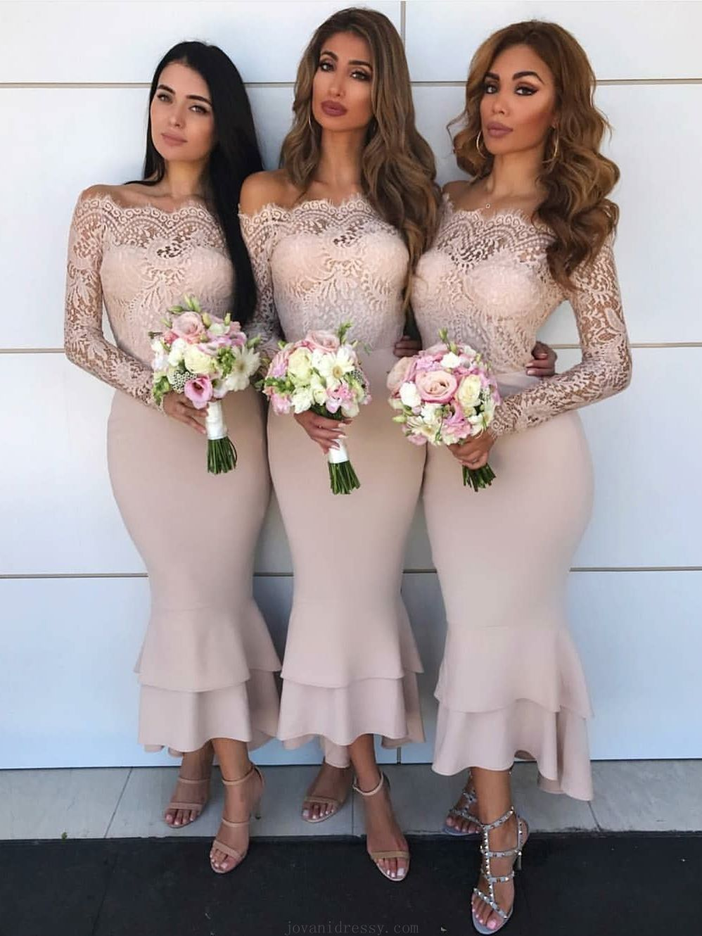 Cheap popular prom dresses long lace prom dresses nude prom