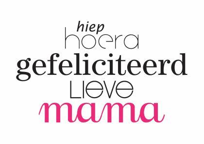 Verwonderend Pin van Martijn Roose op Tekst   Verjaardag mama MC-47