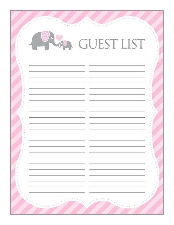 photo about Baby Shower Sign in Sheet Printable called Youngster Shower Visitor Indicator In just Sheet - +6000 Kid Shower Invites