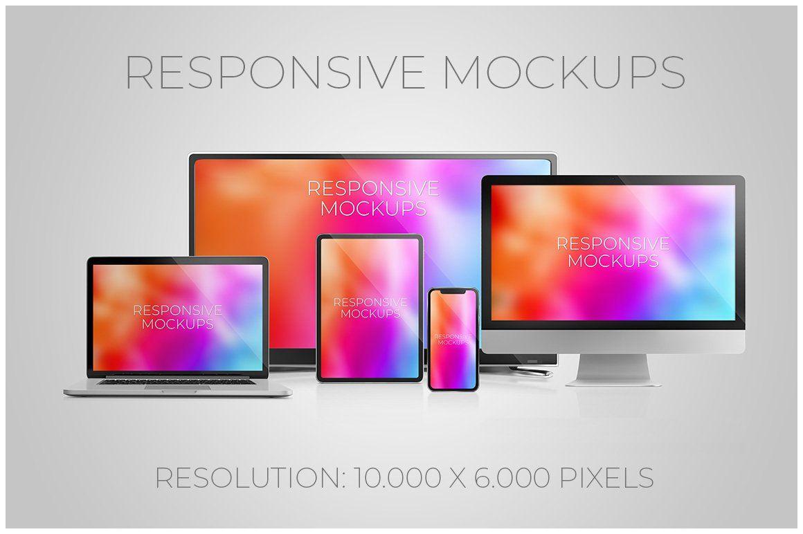Responsive Web Mockups By Bruno S Shop On Creativemarket Computer Mockup Web Mockup Responsive Web