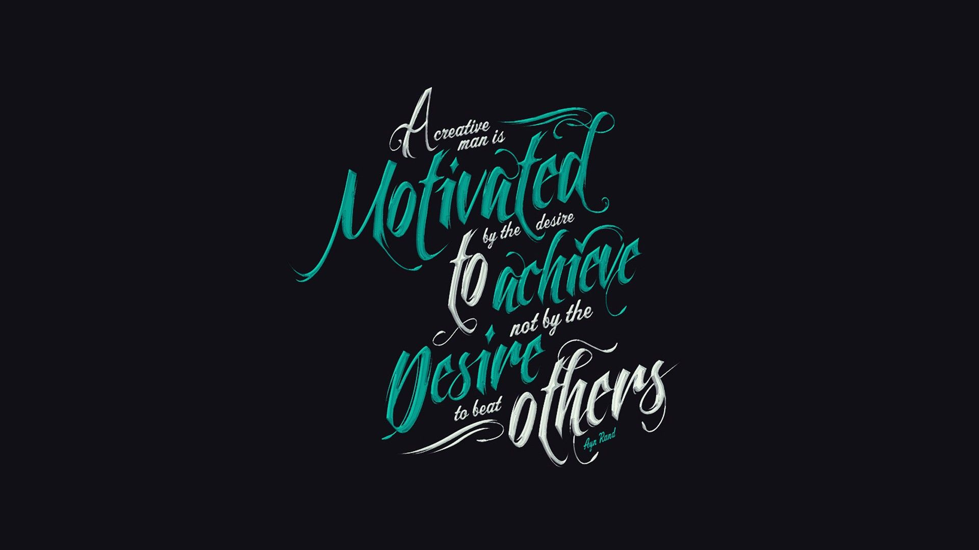 Motivated Man Quote Wallpaper Typography Wallpaper