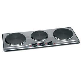 Deni 27 56 In 3 Burner Stainless Steel Hot Plate 16300 Hot Plate Stainless Steel Table Top Cool Kitchen Appliances