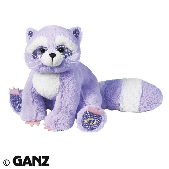 SOFT!! Webkinz Brilliant Bandit Raccoon HM626 NEW with attached UNUSED code HTF