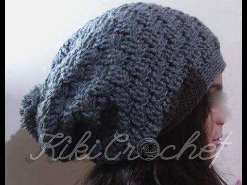 Πλεκτος Φαρδυς Σκουφος (slouchy)/ Crochet Slouchy Hat Tutorial ...