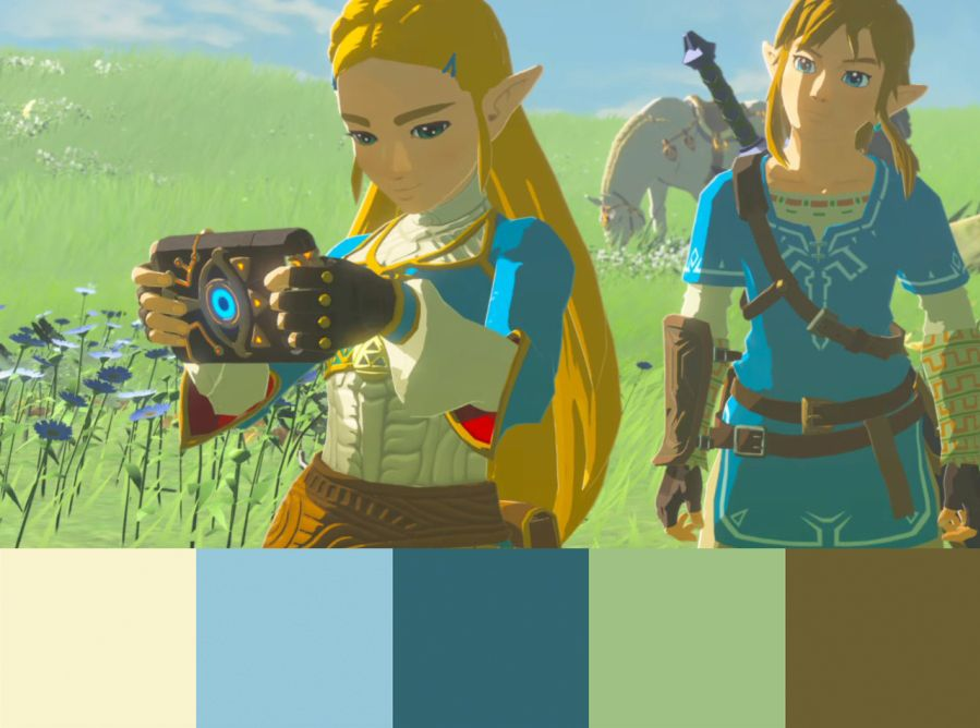 Color Palette Inspiration Breath Of The Wild Color Palette