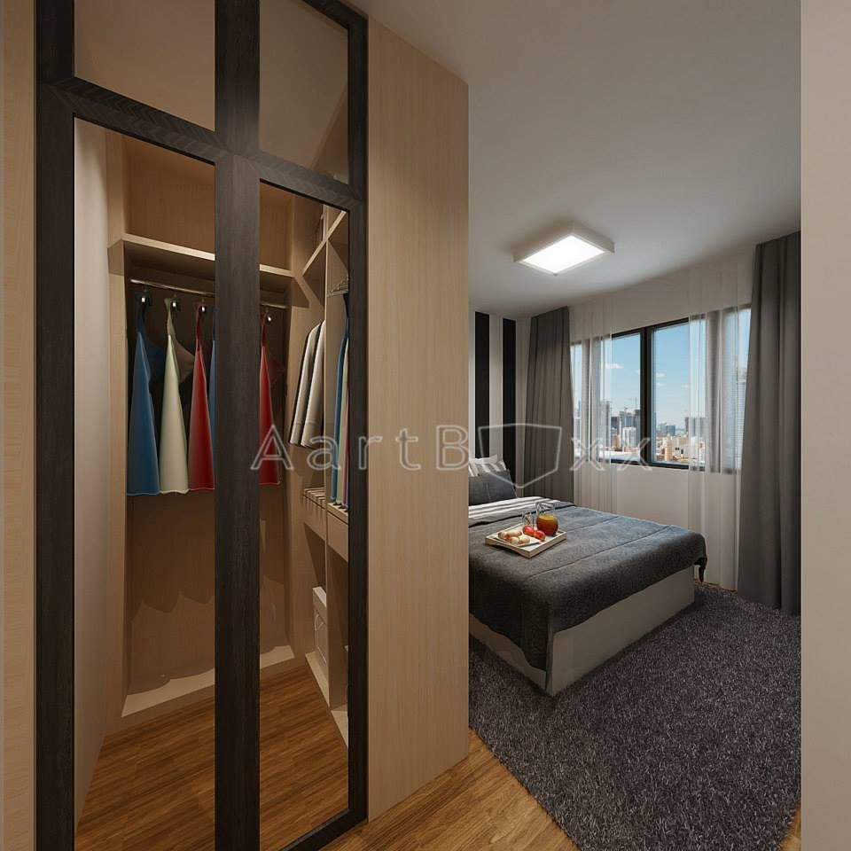Master bedroom hdb  HDB BTO Room Anchorvale Cres Blk B  Interior Design Singapore