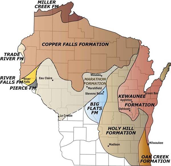 Map Glacial Formations in Wisconsin Ideas in 2019
