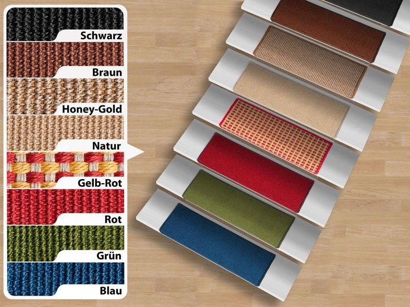 Wonderbaar Sisal- trapmat Pure Nature, rechthoekig, verschillende kleuren SL-14