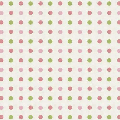 Pink and Green Dot Fabric | Tutti Frutti Fabric by Yard