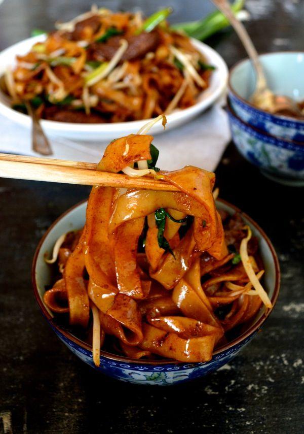 beef chow fun  recipe  chow fun noodles food food recipes