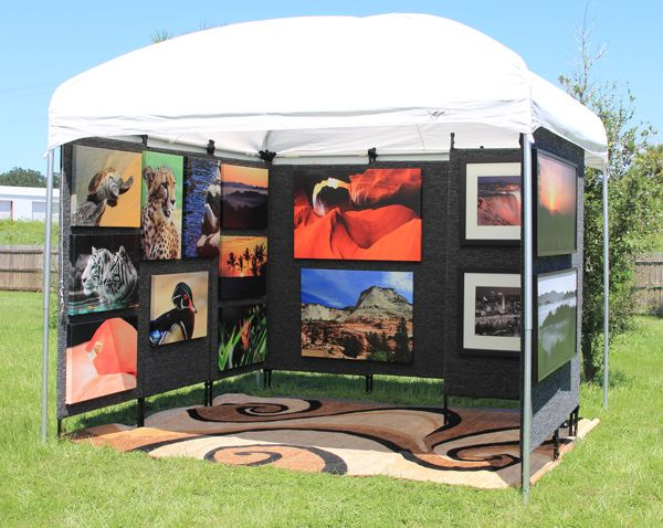 Art festival booth art booth ideas pinterest art for Display walls for art shows