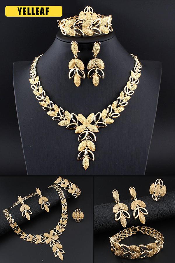 Metal Pendant Metal Choker Metal Earrings Leaf Jewelry Leaf Pendant Leaf Earrings Metal Necklace Leaf Jewelry Set Leaf Necklace