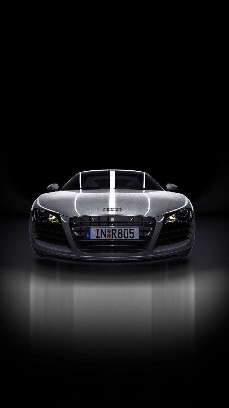 Audi Supercar Dark Black Illustration Art Wallpaper Hd Iphone Super Autos Audi Illustration