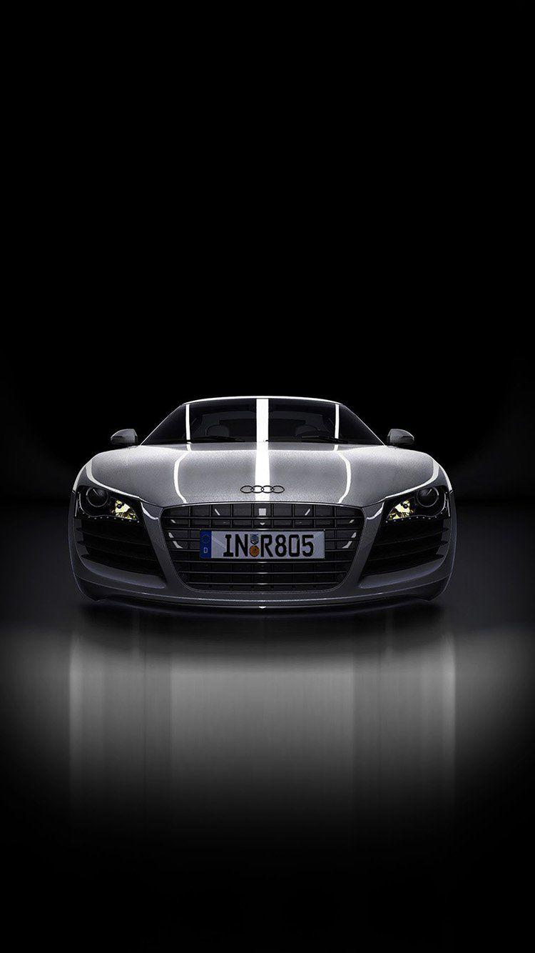 Audi Supercar Dark Black Illustration Art Wallpaper Hd Iphone