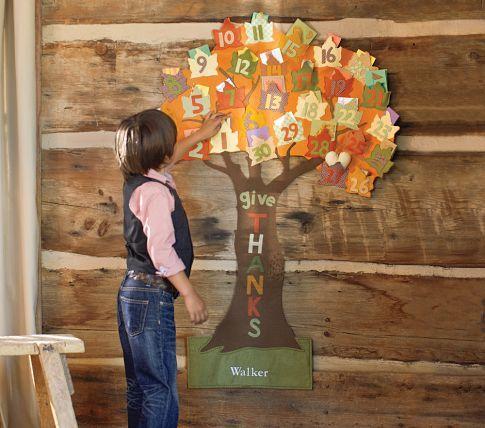 Thanksgiving countdown calendar pottery barn kids the for Pottery barn thanksgiving