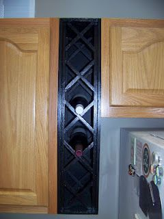 Custom Made Wine Rack Genius To Fill Gaps Between Cabinet And Fridge Yes This Is In My New Kitchen 3 Kitchen Redo Home Diy Home Projects