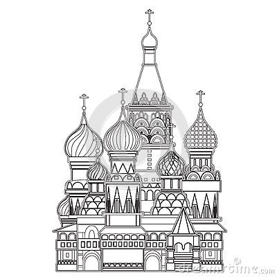 Russia black and white google search domes pinterest - Coloriage russie ...