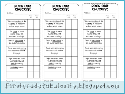 Peer edit checklist for writing classroom ideas for 2014 first grade fabulosity freebie edit and revise checklist fandeluxe Image collections