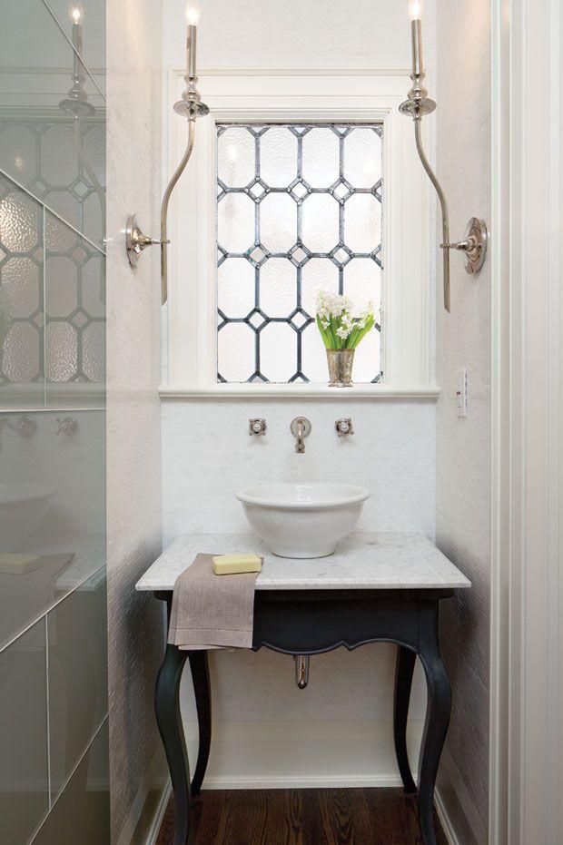 Attrayant Photos : 15+ Petites Et Jolies Salles Du0027eau | Salle De Bain Du0027appoint _  Powder Room | Bathroom, White Bathroom Et Tuscan Bathroom