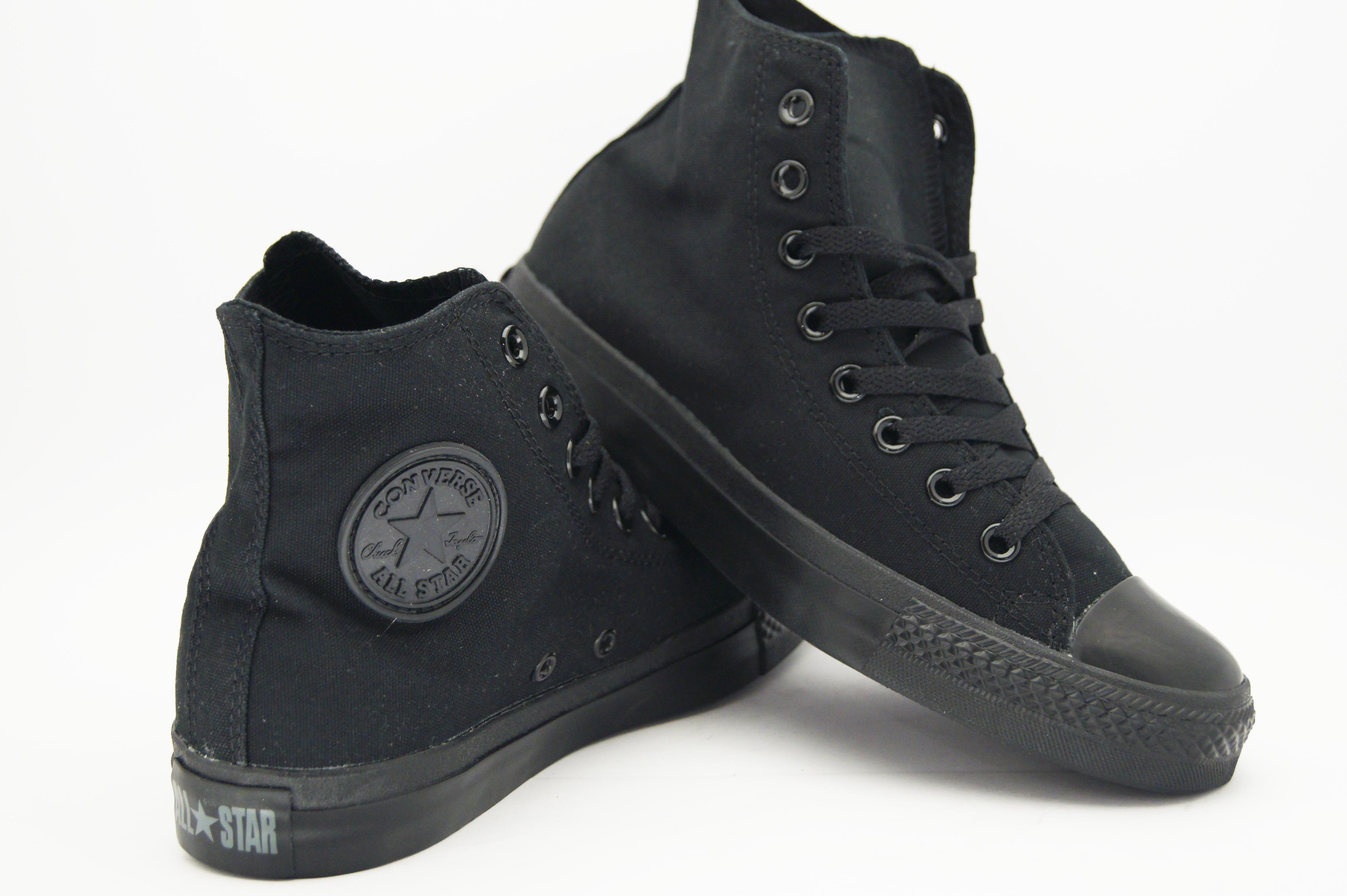 all black converse all star