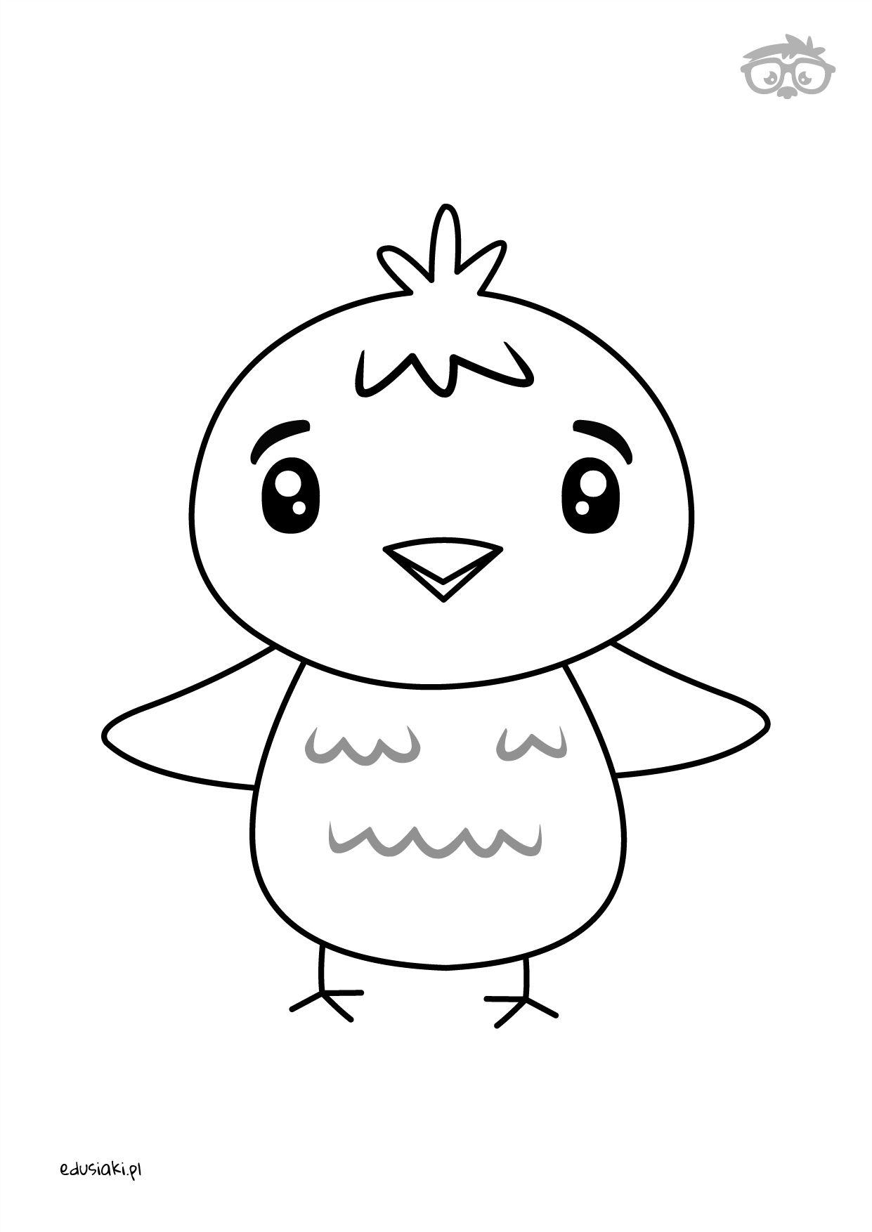 Kolorowanka Kurczak Naukarysowania Dladzieci Edusiaki