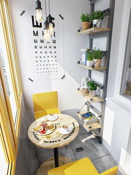 kleine zimmerrenovierung garten gestalten dekor, stylowe małe mieszkanie - zabudowany balkon. | apartamentos & loft, Innenarchitektur