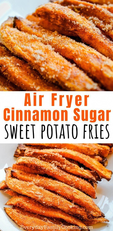 Air Fryer Dessert Fries Cinnamon Sugar Sweet Potato