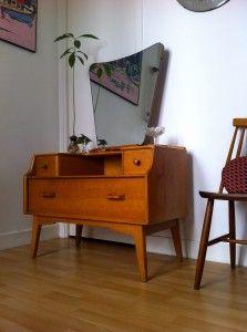 Petite Coiffeuse 60 S Mobilier De Salon Meuble Living Meuble Vintage