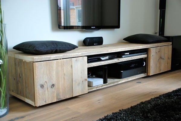 Tv meubel mark steigerhout steigerhoutstunter design for Steigerhout tv meubel