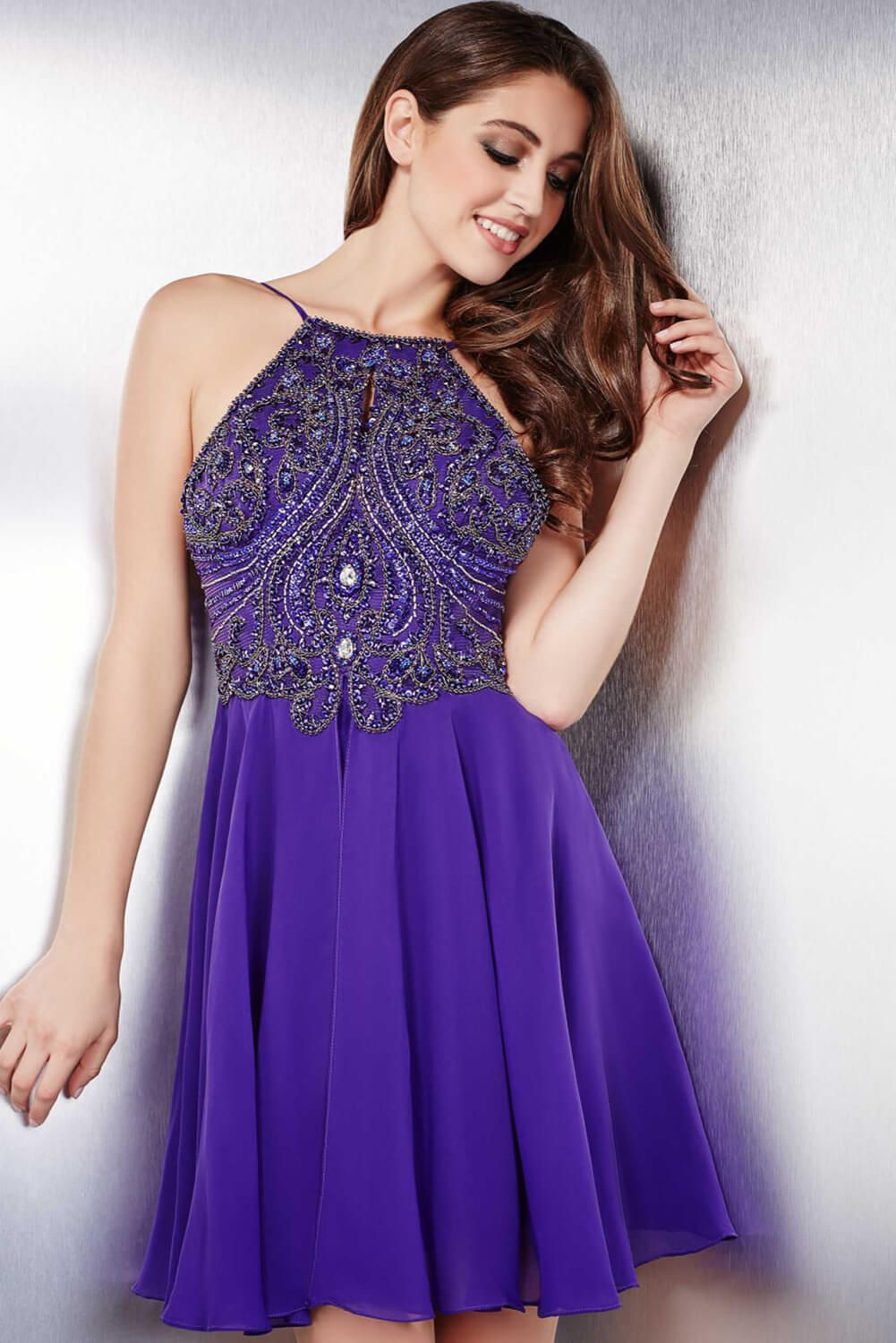 You will look like royalty in this #jovani 32721 embellished chiffon ...