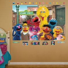 Sesame Street Group Mural REALBIG Wall Decal
