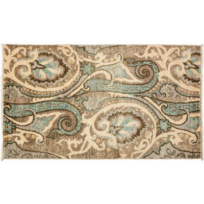 Darya Rugs Suzani Hand-Knotted Beige Area Rug