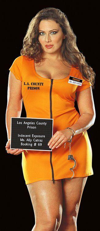 Dreamgirl Ally Catraz Prisoner Costume (Plus Size) - Candy Apple ...