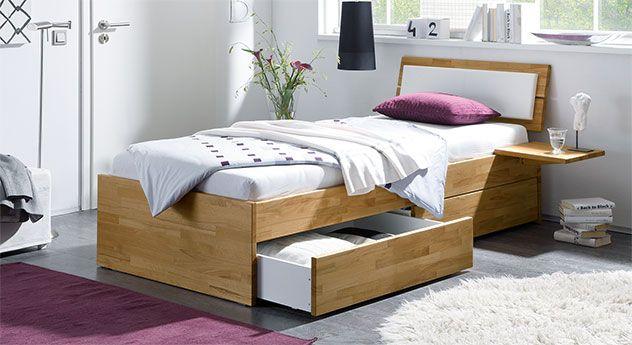Einzelbett modern  Praktisches Schubkastenbett perfekt fürs Jugendzimmer. #modern ...