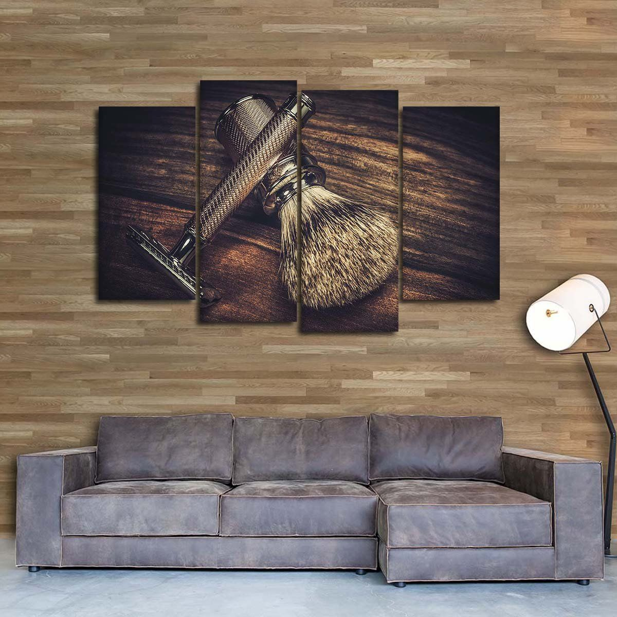 Epic Shave Multi Panel Canvas Wall Art In 2020 Canvas Wall Art Barber Shop Decor Barbershop Design Interior