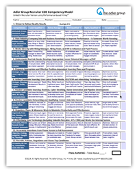 Lou AdlerS Recruiter Competency Model  Recruiter Forms