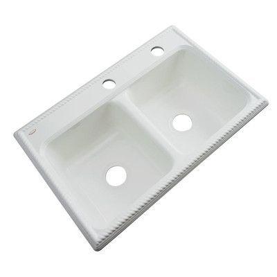 """Solidcast Nassau 33"""" x 22"""" Kitchen Sink F"""