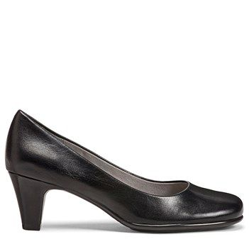Aerosoles Women's Nice Play Pump Shoes (Black Leather)