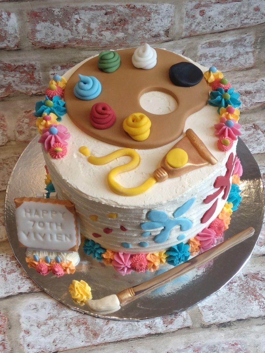 Artist Themed Cake For 70th Birthday Art Birthday Cake Art Party Cakes Cake