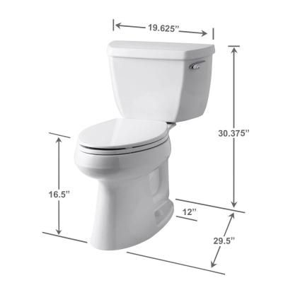 KOHLER Highline Classic the Complete Solution 2-piece 1.28 GPF Single Flush Elongated Toilet in White-K-11499-0 - The Home Depot