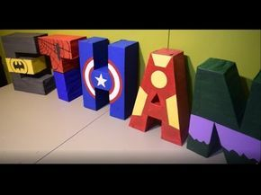 (2) 3D superhero letters / letras 3D de superheroes - YouTube
