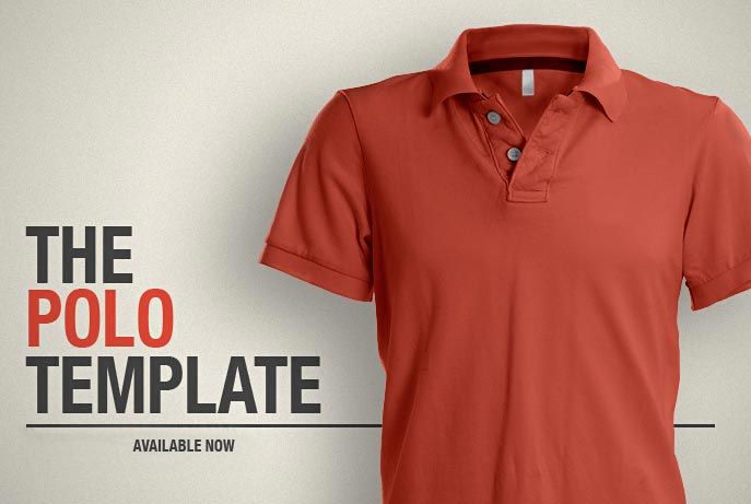 The Polo Shirt Template Psd Ghosted Templates