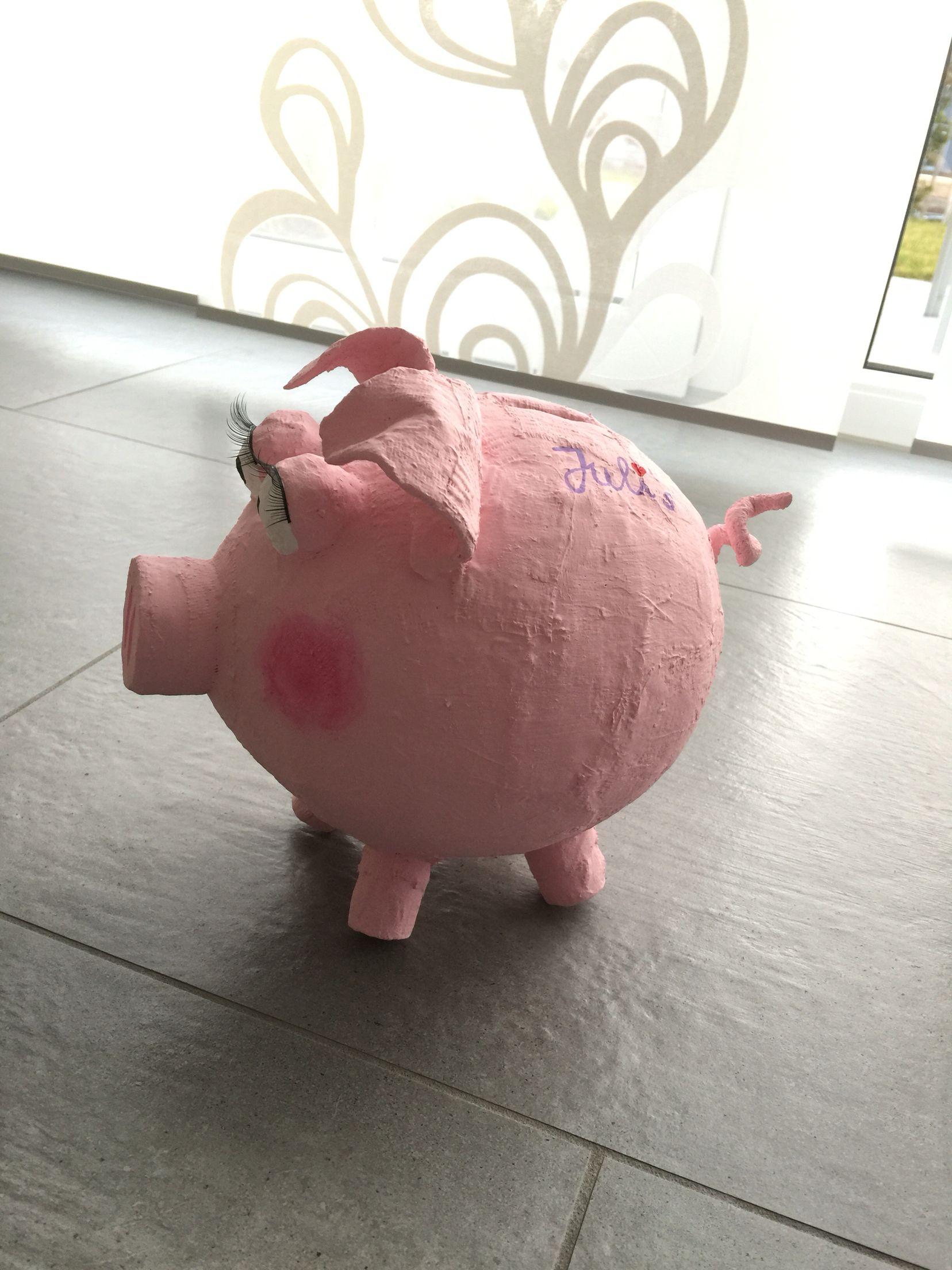 schwein aus ballon und gipsbinden gips basteln gips und basteln mit kindern. Black Bedroom Furniture Sets. Home Design Ideas